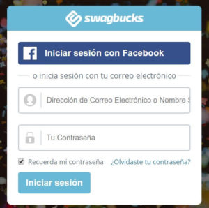 Registro en Swagbucks